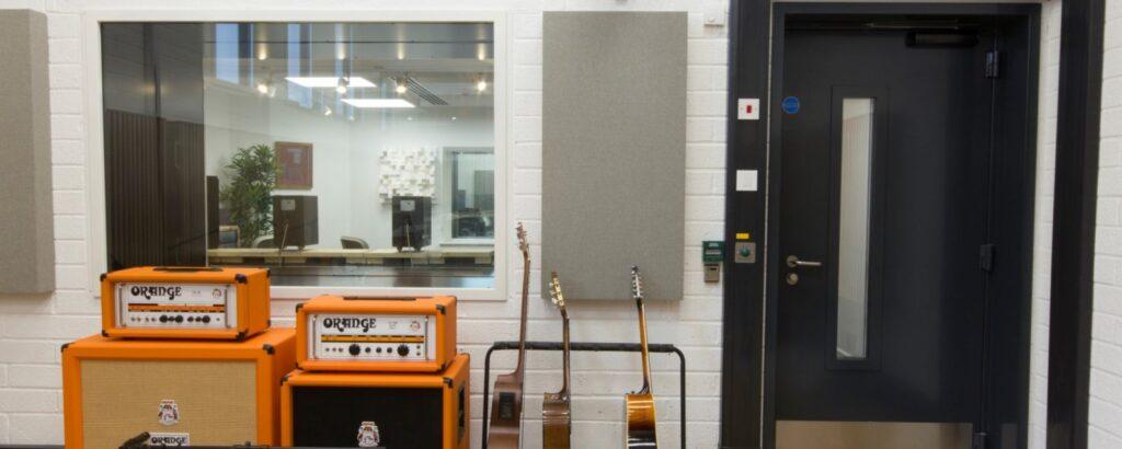 Black acoustics door
